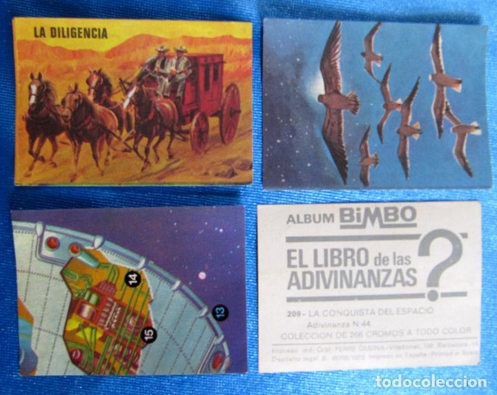 LOTE DE CROMOS. CROMOS SUELTOS; 0,30 €. EL LIBRO DE LAS ADIVINANZAS. ÁLBUM BIMBO, 1973. (Coleccionismo - Cromos y Álbumes - Cromos Antiguos)