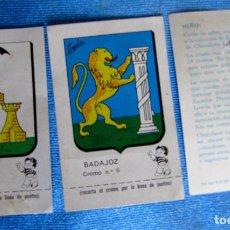 Coleccionismo Cromos antiguos: LOTE DE CROMOS. CROMOS SUELTOS; 1,80 €. ESCUDOS PROVINCIALES. CHOCOLATE CHOCOLATES LOYOLA, 1967.. Lote 204782767