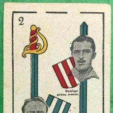 Coleccionismo Cromos antiguos: CARDÚS (R.C.D. ESPAÑOL) Y DOMINGO (ATLÉTICO AVIACIÓN) - CROMO BARAJA UNIVERSO - AÑO 1944. Lote 78038509