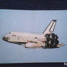 Coleccionismo Cromos antiguos: NUTREXPA AÑO 1988 DOBLE CROMO ADHESIVO NUNCA PEGADO AVIACION NASA COLUMBIA EEUU UNITED STATES. Lote 78329013
