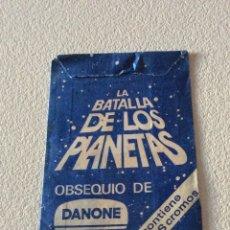 Coleccionismo Cromos antiguos: DANONE SOBRE CROMOS LA BATALLA DE LOS PLANETAS. Lote 175857947