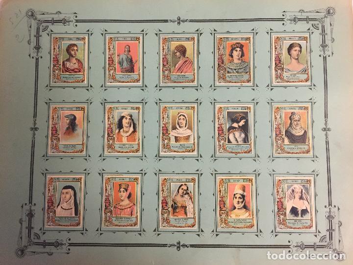 Coleccionismo Cromos antiguos: COLECCIÓN COMPLETA 75 FOTOTIPIAS SERIE 21 DE MUJERES CÉLEBRES. - Foto 3 - 80778974