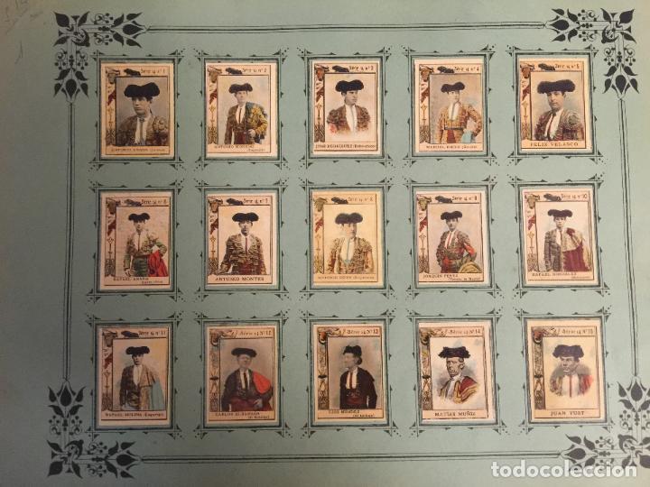 60 FOTOTIPIAS DE LA SERIE 14. TOREROS ESPAÑOLES. MUY BUEN ESTADO. (Coleccionismo - Cromos y Álbumes - Cromos Antiguos)