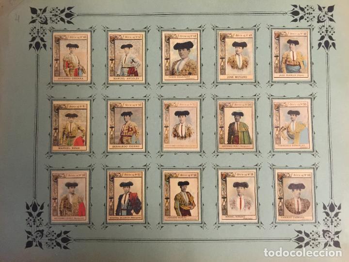 Coleccionismo Cromos antiguos: 60 FOTOTIPIAS DE LA SERIE 14. TOREROS ESPAÑOLES. MUY BUEN ESTADO. - Foto 2 - 80779570