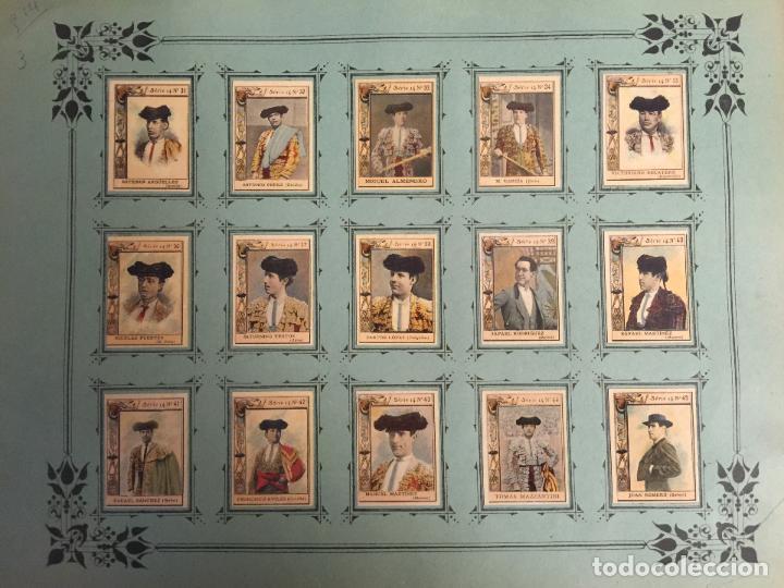 Coleccionismo Cromos antiguos: 60 FOTOTIPIAS DE LA SERIE 14. TOREROS ESPAÑOLES. MUY BUEN ESTADO. - Foto 3 - 80779570