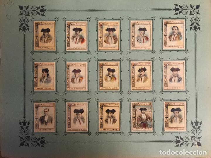 Coleccionismo Cromos antiguos: 60 FOTOTIPIAS DE LA SERIE 14. TOREROS ESPAÑOLES. MUY BUEN ESTADO. - Foto 4 - 80779570