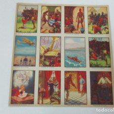 Coleccionismo Cromos antiguos: COLECCIÓN DE 12 CROMOS - LAMINA ORIGINAL ANTIGUA - AVENTURAS DE JUAN SOÑADOR - COMPLETA - NUEVO!!!. Lote 81820904