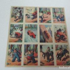 Coleccionismo Cromos antiguos: COLECCIÓN DE 12 CROMOS - LAMINA ORIGINAL - UN TENORIO DE AUTOMOVIL - COMPLETO - NUEVO!!!. Lote 81821960