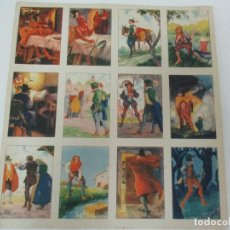 Coleccionismo Cromos antiguos: COLECCIÓN DE 12 CROMOS - LAMINA ORIGINAL - LOS TRES PELOS DE ORO DEL DIABLO - COMPLETO - NUEVO!!!. Lote 81822096