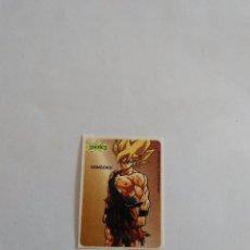 Coleccionismo Cromos antiguos: ANTIGUA PEGATINA DE CHICLE SONRICS DRAGON BALL, BOLA DE DRAGÓN (AÑOS 90) - SON GOKU. Lote 82725116
