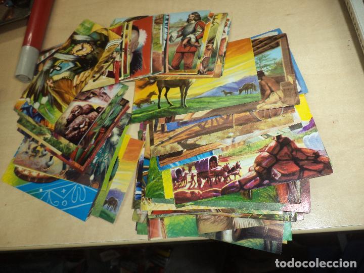 Coleccionismo Cromos antiguos: Lote 76 cromos Album El Viejo Oeste.T.G.RUIROMER 1969. - Foto 2 - 83083836