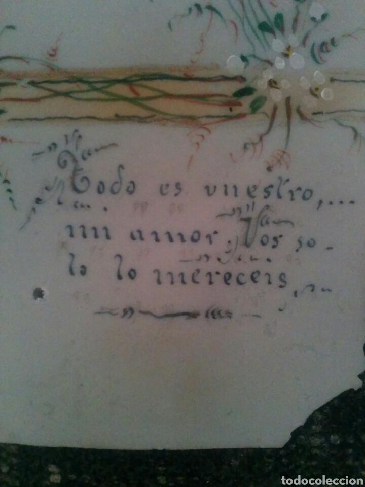 Coleccionismo Cromos antiguos: ANTIGUO CROMO RELIGIOSO ESTAMPA PINTADO A MANO - Foto 3 - 83685871