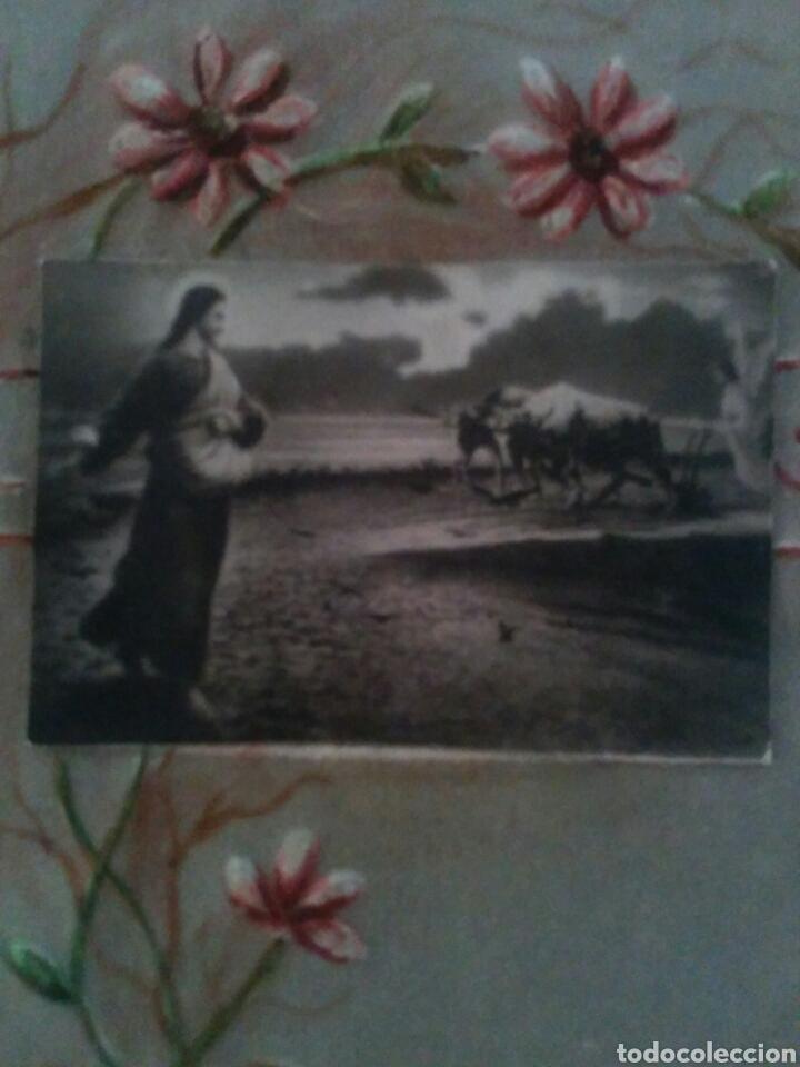 ANTIGUO CROMO RELIEVE EN PAPEL PAPIRO AÑO 1913 (Coleccionismo - Cromos y Álbumes - Cromos Antiguos)