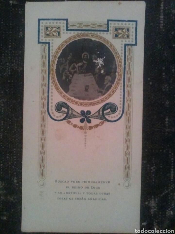 Coleccionismo Cromos antiguos: ANTIGUO CROMO o ESTAMPA religioso foto sobre papel - Foto 2 - 83686490