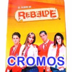 Coleccionismo Cromos antiguos: LOTE 44 CROMOS REBELDE SERIE TV PANINI 2005 TAMBIEN SUELTOS. Lote 43954036