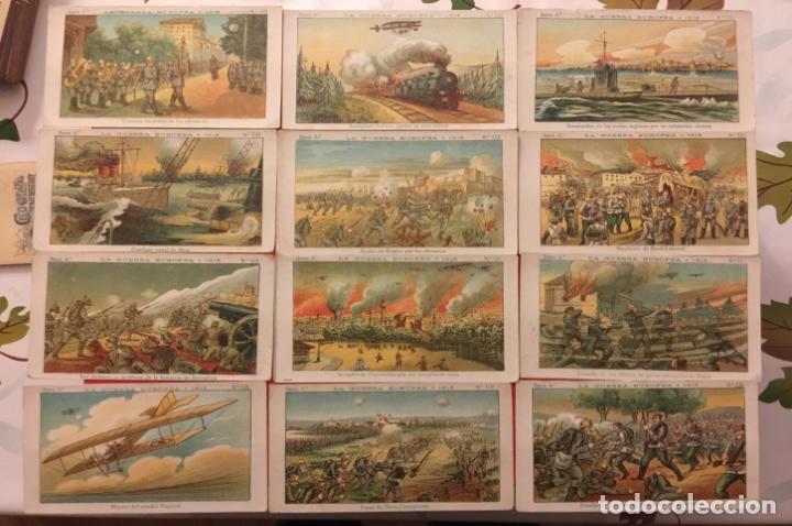 Coleccionismo Cromos antiguos: COLECCION LA GUERRA EUROPEA SERIE 6ª COMPLETA DEL 101 - 120. CHOCOLATES AMATLLER. - Foto 2 - 87094016