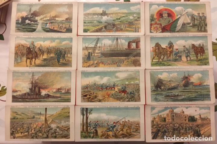Coleccionismo Cromos antiguos: COLECCION LA GUERRA EUROPEA SERIE 7ª COMPLETA DEL 121 - 140. CHOCOLATES AMATLLER. - Foto 2 - 87094080