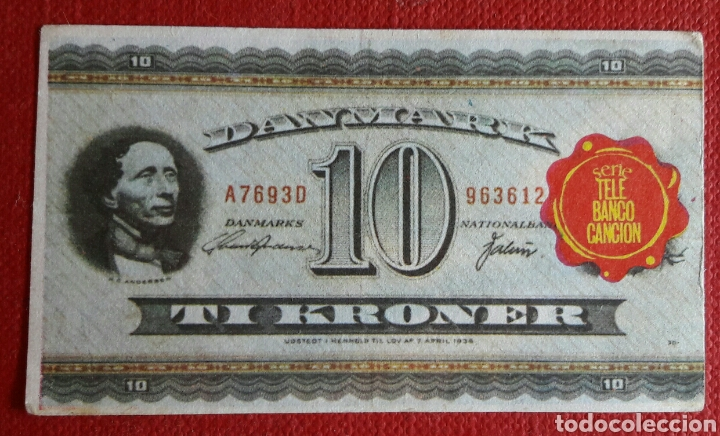 Coleccionismo Cromos antiguos: Billete tele banco cancion 10 coronas - Foto 2 - 87124198