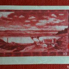 Coleccionismo Cromos antiguos: BILLETE TELE BANCO CANCION 10 CORONAS. Lote 87131407
