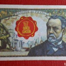 Coleccionismo Cromos antiguos: BILLETE TELE BANCO CANCION 5 FRANCOS. Lote 87132062