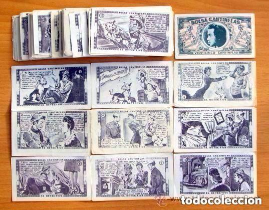 BOLSA CANTINFLAS, EL DETECTIVE - EDITORIAL SENDA 1946 - LOTE DE 85 CROMOS DIFERENTES (Coleccionismo - Cromos y Álbumes - Cromos Antiguos)