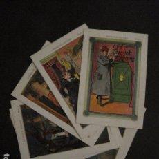 Coleccionismo Cromos antiguos: EL DETECTIVE SHERLOCK HOLMES - COLECCION COMPLETA 10 CROMOS ANTIGUOS AÑOS 20 -VER FOTOS- (V-11.346). Lote 89090140