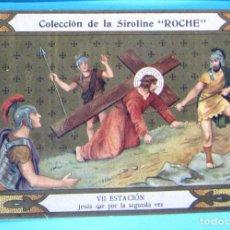 Coleccionismo Cromos antiguos: VÍA CRUCIS. VII ESTACIÓN. JESÚS CAE POR SEGUNDA VEZ. COLECCIÓN DE LA SIROLINE ROCHE.. Lote 90331020