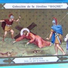 Coleccionismo Cromos antiguos: VÍA CRUCIS. IX ESTACIÓN. JESÚS CAE POR TERCERA VEZ. COLECCIÓN DE LA SIROLINE ROCHE.. Lote 90332344