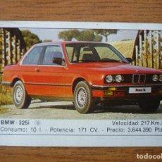 Coleccionismo Cromos antiguos: CROMO COCHES Nº 23 BMW 325I - DESPEGADO - EDICIONES UNIDAS MOTOR 16 1986. Lote 91594270