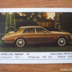 Coleccionismo Cromos antiguos: CROMO COCHES Nº 29 CADILLAC SEVILLA - DESPEGADO - EDICIONES UNIDAS MOTOR 16 1986. Lote 91594635