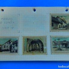 Coleccionismo Cromos antiguos: COLECCIÓN DE CROMOS DE CAJA DE CERILLAS ANTIGUAS. SERIE 12ª. PUEBLOS DE ESPAÑA. INCOMPLETA.. Lote 91597435