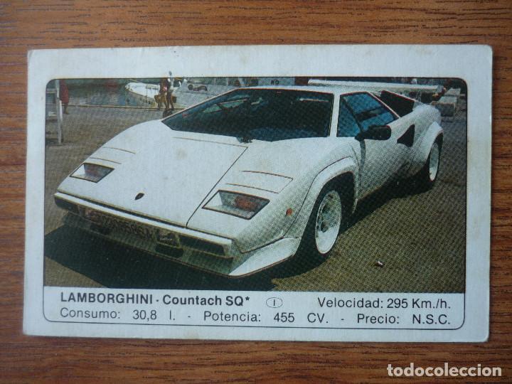 CROMO COCHES Nº 70 LAMBORGHINI COUNTACH SQ - DESPEGADO - EDICIONES UNIDAS MOTOR 16 1986 (Coleccionismo - Cromos y Álbumes - Cromos Antiguos)