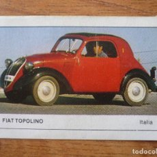 Coleccionismo Cromos antiguos: CROMO COCHES Nº 155 FIAT TOPOLINO - DESPEGADO - EDICIONES UNIDAS MOTOR 16 1986. Lote 91649525