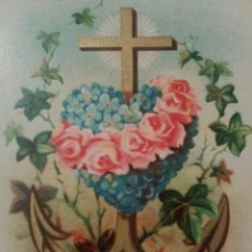 Coleccionismo Cromos antiguos: ANTIGUO CROMO RELIGIOSO CORAZON. Lote 92907805