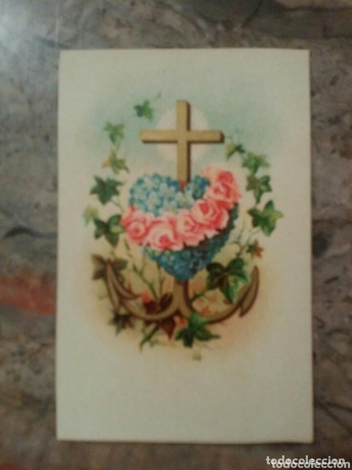 Coleccionismo Cromos antiguos: ANTIGUO CROMO RELIGIOSO CORAZON - Foto 2 - 92907805