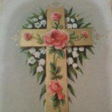 Coleccionismo Cromos antiguos: ANTIGUO CROMO RELIGIOSO CRUZ. Lote 92908310