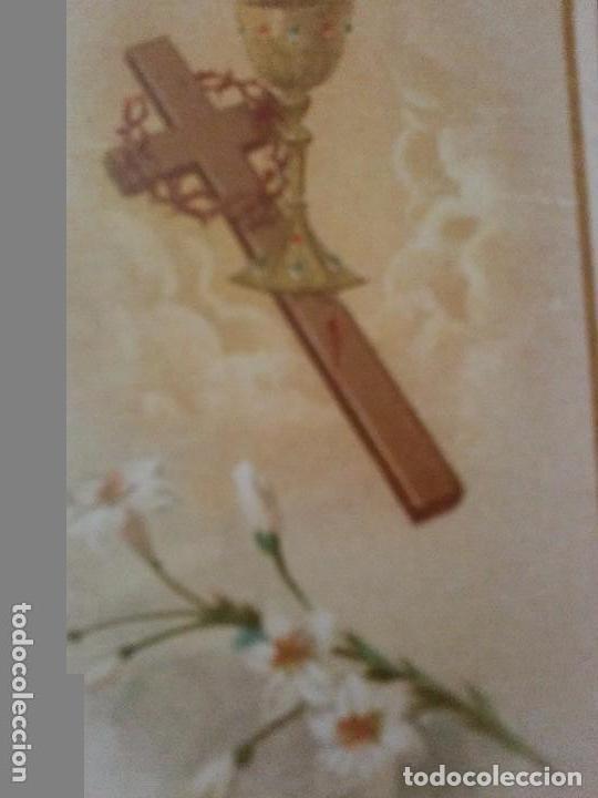 Coleccionismo Cromos antiguos: ANTIGUO CROMO RELIGIOSO CRUZ - Foto 2 - 92908440