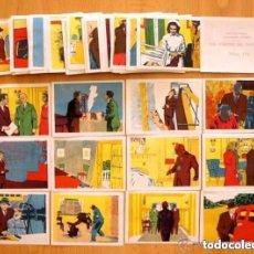 Coleccionismo Cromos antiguos: LOS CRIMENES DEL FANTASMA - BAGUÑA HERMANOS 1946 - CINEGRAMA PITUCO - LOTE DE 104 CROMOS. Lote 93910495