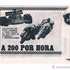 Coleccionismo Cromos antiguos: LOTE 4 SOBRES CROMOS A 200 POR HORA ALGUERSUARI EDIPRESS SIN ABRIR CERRADOS ANTIGUOS SOBRE CROMO. Lote 93952700