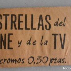Coleccionismo Cromos antiguos: SOBRE CROMOS ESTRELLAS DEL CINE Y DE LA TV. Lote 93960065