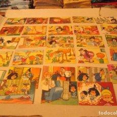 Coleccionismo Cromos antiguos: VAMOS A LAS CAMA LA FAMILIA TELERIN LOTE . Lote 94207805