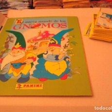 Coleccionismo Cromos antiguos: EL NUEVO MUNDO DE LOS GNOMOS LOTE ALBUM+CROMOS. Lote 94208500