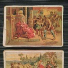 Coleccionismo Cromos antiguos: 45 CROMOS HISTORIA ROMANA. 10,5 X 7,5 CM. Lote 94656911