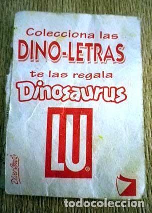 Coleccionismo Cromos antiguos: Cromo pegatina letra A dino letras dino-letras dinosaurus sticker Lu - Foto 2 - 94687279