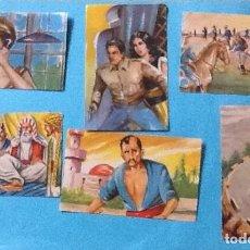Coleccionismo Cromos antiguos: LOTE DE 6 CROMOS, DEL ALBUM NARRACIONES; EL LEGIONARIO DEL DESIERTO. Lote 56594693