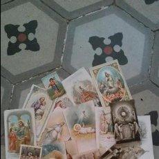 Coleccionismo Cromos antiguos: LOTE DE VENTIUNA ESTAMPAS RELIGIOSAS. Lote 95387847