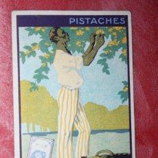 Coleccionismo Cromos antiguos: CROMO CHOCOLATE SUCHARD CACAO MILKA FRANCIA PISTACHES. Lote 95640191