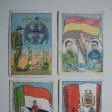 Coleccionismo Cromos antiguos: CROMOS ANTIGUOS - COLECCIÓN BANDERAS Y ESCUDOS NACIONALES - CON PUBLICIDAD DE TOMELLOSO - LOTE. Lote 95716963