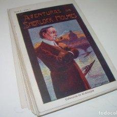 Coleccionismo Cromos antiguos: COLECCION COMPLETA DE 40 CROMOS....AVENTURAS DE SHERLOCK HOLMES...CHOCOLATE JAIME BOIX.. Lote 95825731