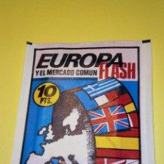 Coleccionismo Cromos antiguos: EUROPA FLASH Y EL MERCADO COMUN - SOBRE DE CROMOS ED. EDIVERSA - NUEVO SIN ABRIR - AÑO 1985. Lote 95932791